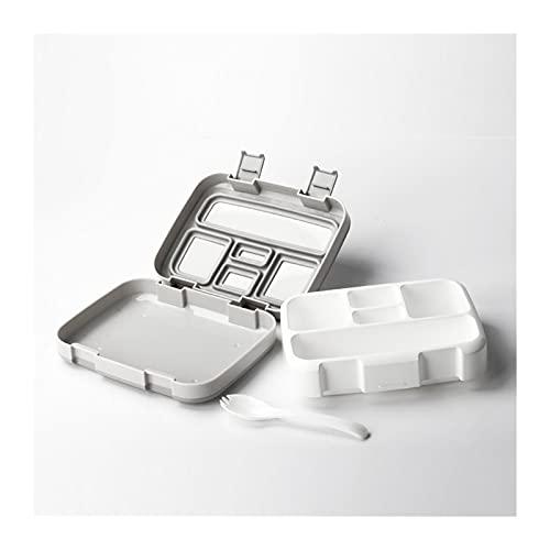 Lunch Box Caja de almuerzo portátil Bento Bec BPA Picnic gratis Contenedor de comida para niños Sellado Caja de ensalada al aire libre Camping Caja de almuerzo Vajilla (Color : Gray 5)