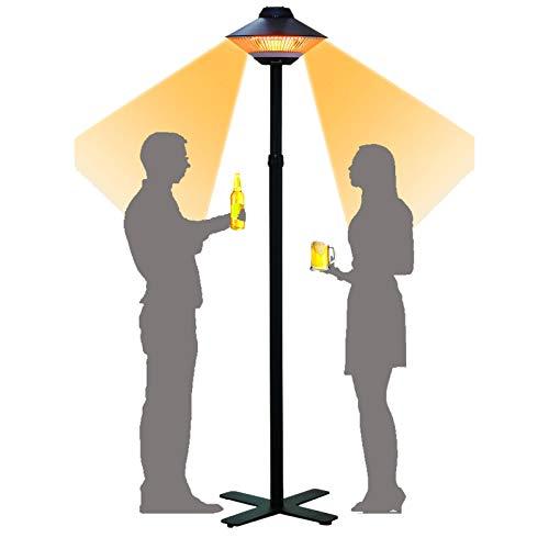 Stoge Terrasse Heizung, 1500W Infrarot-Heizung, wasserdichte Elektrische Heizung Freistehend, for Outdoor/Indoor, Garage, Garten