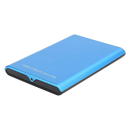Monland Disco duro externo de 1 TB, USB 3.0, 2.5, portátil, de metal de aleación de aluminio ultrafino, color azul