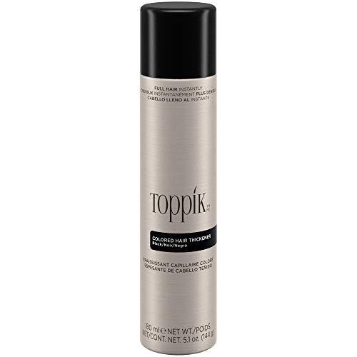 Toppik Haarverdichtungsspray 180 ml, Schwarz, bei coloriertem Haar, für voller aussehendes Haar