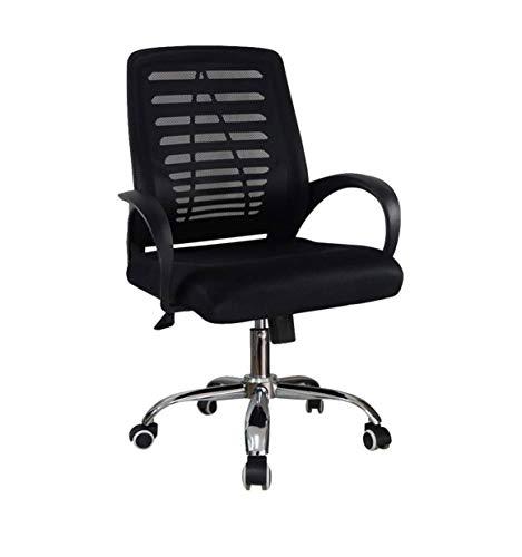 ZOUSHUAIDEDIAN Silla de oficina, sillas de computadora, silla de oficina de malla ergonómica, silla de escritorio de computadora ajustable, silla de tarea de respaldo cómodo sillón giratorio para ofic