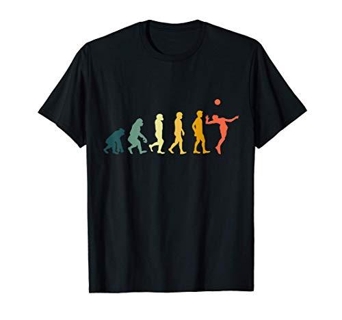 Retro Evolution Volleyball Geschenk für Volleyballer T-Shirt