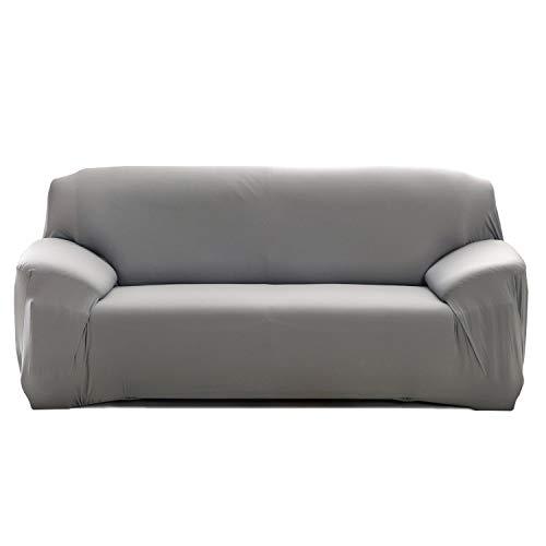 Cornasee Funda de sofá Elastica 4 plazas,Cubierta para sofá con Cuerda de fijación (Gris,4 Plazas)