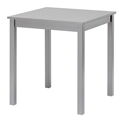 hagge home Dining Table Kitchen Table Small Table Living Room Nordic Pine Wood Solid Wood from Sustainable Forest 68 x 68 cm Height 75 cm Grey