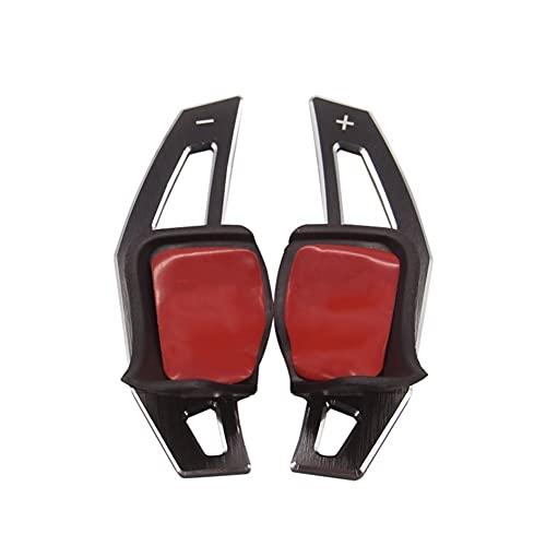 Cambio de remo extendido Diseño De Coche Para Volks-wagen V-W Tig-uan Go-lf MK6 G-TI Jet-ta MK5 Pa-ssat B6 CC Sciro-cco R36 R20 Volante Paletas De Cambio De Aluminio (Color : Negro)