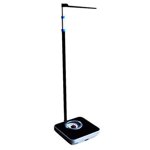 ACZZ Profesional mecánico análogo Dial báscula de baño, balanzas de precisión de peso con la altura de la varilla (260 lb / 120 Kg)