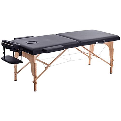 HuaBiao Able De Massage Mobile, Table De Massage Pliante, Lit De Massage Portable, 2 Zones, Hauteur...
