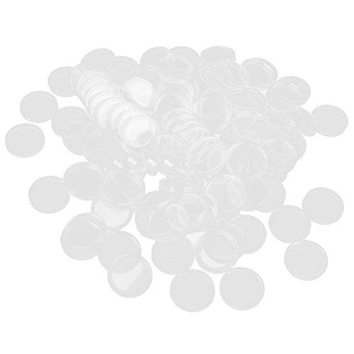 100pcs 33mm Cápsulas de Monedas Caja para Coleccionista Color Transparente