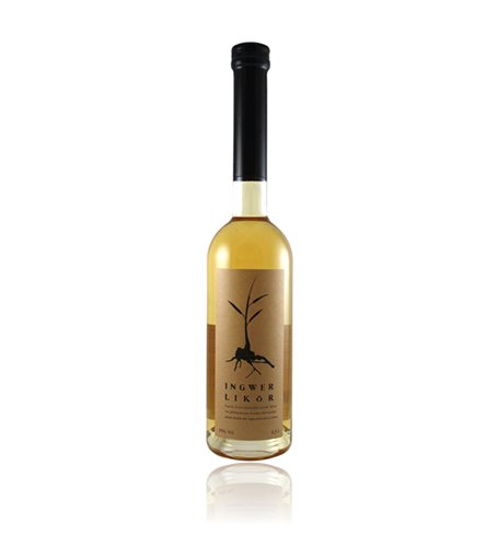 Ingwerlikör 0,5 l | dezent scharfe Spirituosen-Spezialität aus Ingwer | Schnaps der Destillerie Dr. Rauch