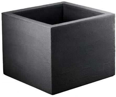 geli Thermo Plastic Lippert Pflanzkübel Kubus Quadrat ca. 20 x 20 x 20 cm anthrazit