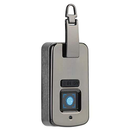 Vingerafdrukslot, slimme antidiefstal handtasvergrendeling portemonnee rugzak vingerafdrukvergrendeling veiligheidshangslot voor juwelendoosjes, toilettassen, tassen