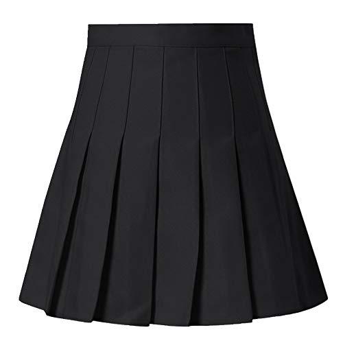 N\P Falda plisada de satén de verano de cintura alta plisada mini falda de mujer delgada cintura casual
