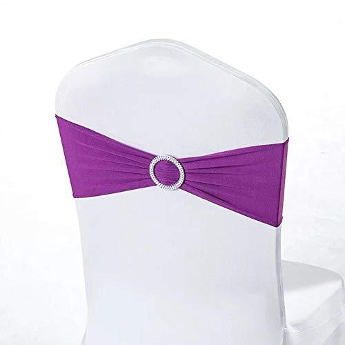 Emmala 50 Spandex Stretch stoel Serpen Strikken voor elastische stoelhoes Unicaat Band met gesp voor bruiloft verjaardag stoel Decoraties Bruin 15,5 x 33 cm