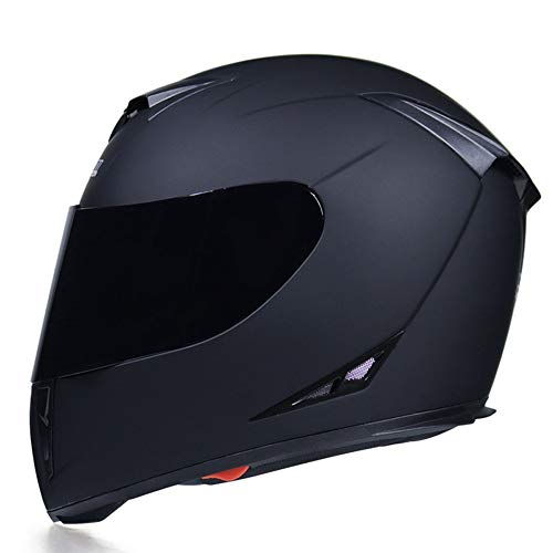 SJAPEX Integral-Helm Full-Face Motorradhelm Off Road Helme Roller-Helm Scooter-Helm Cruiser Sturz-Helm Street-Fighter-Helm Sport Urban Helmet MTB, Visier Schnellverschluss