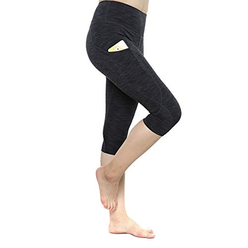 Yogafeel - Leggings de cintura alta para mujer, para correr, entrenar con bolsillos - - Medium