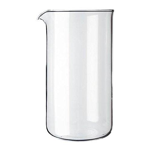Bodum Vidrio Transparente Café Fabricante De Repuesto Vaso De Precipitados 8 Taza De 1 Litro (34 Oz) (Paquete de 6)