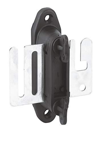 AKO 4X Profi Torgriffisolator für Weidezaunband m. Edelstahlplatte, schwarz - Ideale Torisolatoren für Weidezaunband - Gummieinsatz und Flügelschrauben