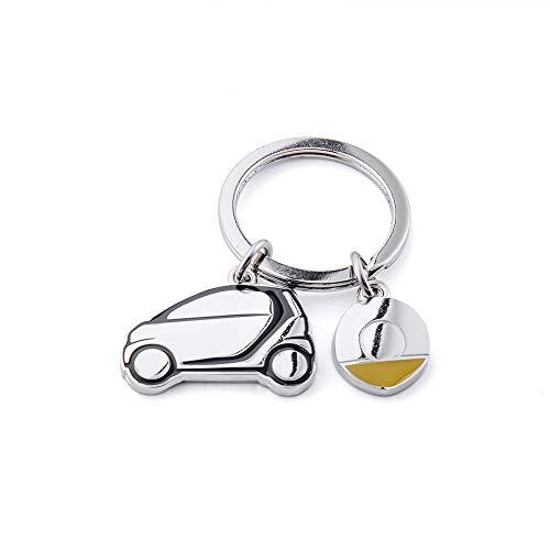 MOTO4U Stainless Steel Smart Car Keychains Car Model Key Chain For Mercedes Smart