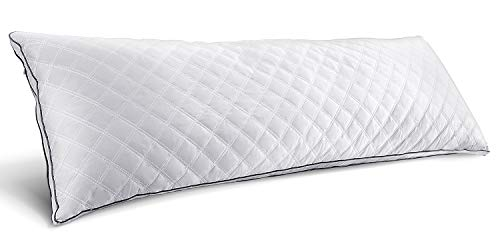 HOKEKI Luxury Full Body Pillow,Adjustable Fluffy Body Pillow for Sleeping, Soft Long Bed Pillow Insert, 20'x54'(White)