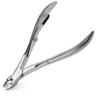 Boé Perel Cuticle Trimmer - Sharp Scissor Nail Clipper Cutter Remover Pedicure - Professional Swiss Precision Manicure Tool for Fingernails and Toenails