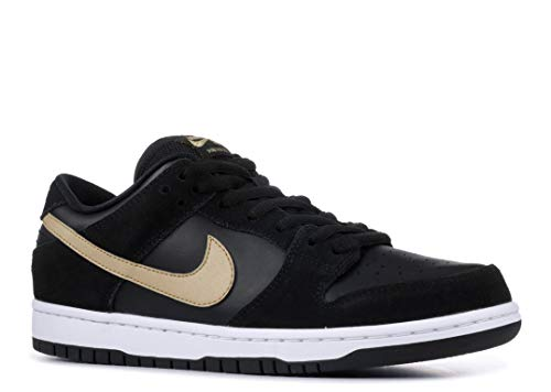 Nike SB Dunk Low Pro, Zapatillas de Skateboarding Unisex niño, Multicolor (Black/Metallic Gold/White 002), 37.5 EU