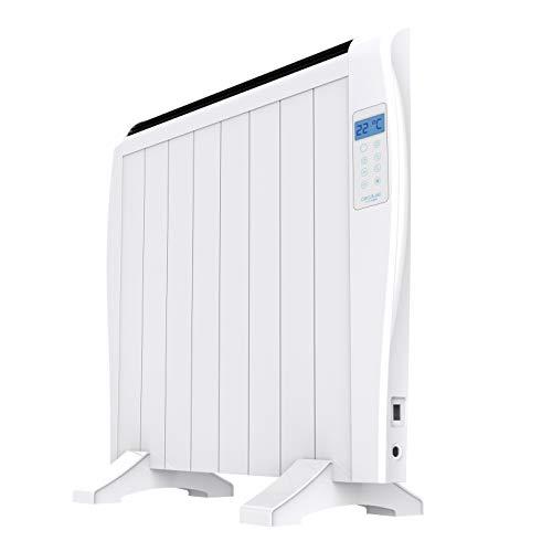 Cecotec Ready Warm 1800 Thermal - Emisor Térmico 8 elementos, 3 Modos de funcionamiento, Temporizador, Mando a Distancia, Pantalla LED, 1200 W