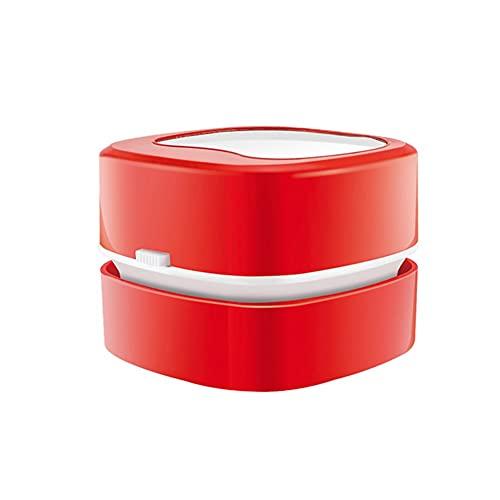 Miniaspirador Mesa Mini Aspirador para la Limpieza de la Mesa del Ordenador portátil del Teclado para el hogar, la Oficina, el Coche Red,One Size