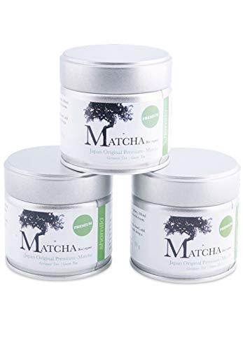 Premium Bio Matcha aus Japan, Tee Pulver in der 30 g Dose, süßlich-mild, geeignet für Matcha Latte, Grüntee