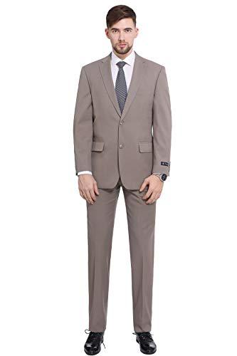 Hanayome Men's 3 Pieces Business Suits Slim Fit Stripe Blazer Jacket Vest Pants Set SI137 (Blue,52)