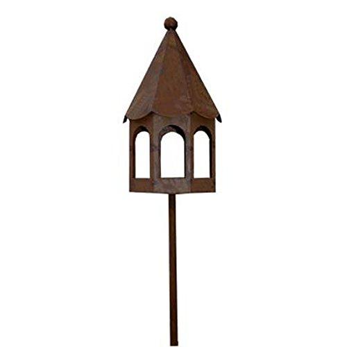 Gartenstab Vogelhaus Metall Rost 150cm