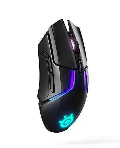 Steelseries rival 650 quantum wireless gaming mouse - rapid charging battery - 12, 000 cpi truemove3+ dual optical sensor - low 0. 5 lift-off distance - 256 weight configurations - 8 zone rgb lighting