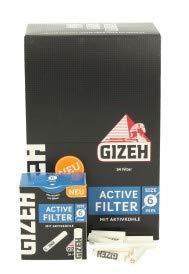 Gizeh 102 x Active Tips Slim Aktivkohlefilter 6mm 3x34er Filtertips