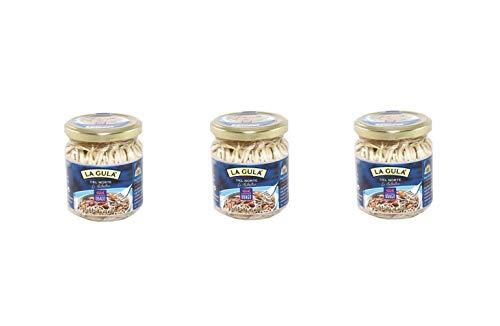 La gula del norte salteada al ajillo 200g - Ubago - Pack de 3 tarros (Peso total de 600g)