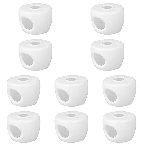 Boon Earthie 10 x White Children Baby Safety Lock Door Knob Handles Cover Child Proof Safe Kids Toddler Guard Protect Doorknob Spin Babyproof for Bedroom Room Toilet Restroom Bathroom Home Kitchen