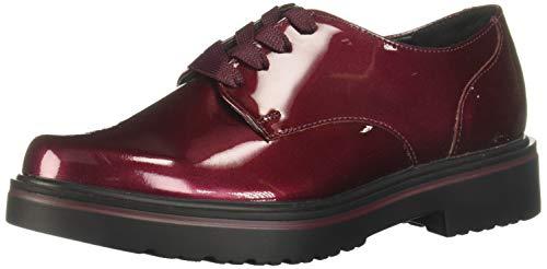 Flexi GEA 32901 Zapatos de Cordones Oxford para Mujer, Color Vino, 23.5