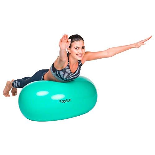Original PEZZI Eggball Standard 65 cm grün Sitzball Gymnastickball Pezziball