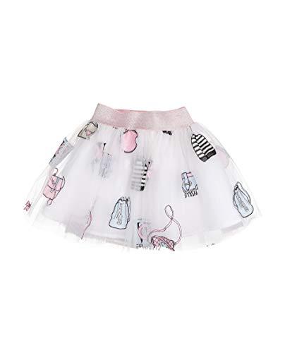 GULLIVER Baby Tulle Rok Meisje Korte Rokje Feestelijk Wit Roze met Patches 9-24 Maanden