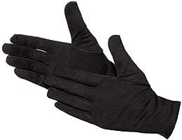 Jah 579 - Guantes de algodón (12 pares, Ökotex, reforzados), color blanco, Negro, 579-BL