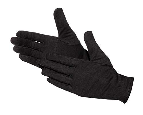 Jah 579 Baumwollhandschuh 12 Paar schwer verstärkt schwarz Gr. 10