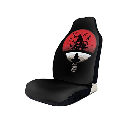 hengshiqi Car Seat Covers, ClanMashup with Itachi Mangekyou Sharingan Sasuke Car Seat Cover Automotive Front Seat Protectors Fit for Most Car Truck SUV - 1PC/2PC