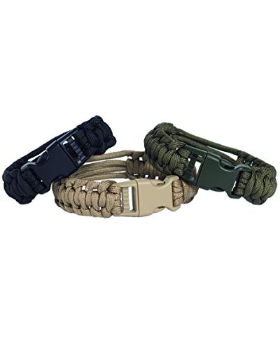 Mil-Tec Cinturino dell'orologio operativo Paracord (Oliva/L)