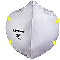 Venus Plastic N95 Face Masks (Without Valve, Pack of 50)