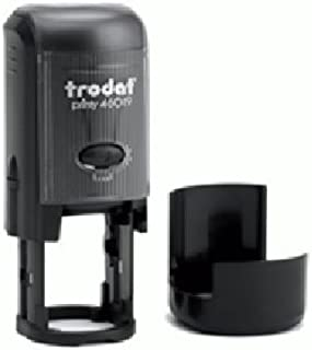 Round Customizable Self Inking Rubber Stamp from Cenveo - up to 2 Lines - 3/4