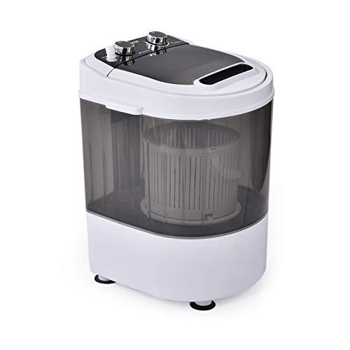 Frifer Mini Washing Machine 7.7 LBS Single Tub Washer and Dryer Small Washing Machine Portable Washer and Dryer Combo for Small Clothes Suitable for Apartment, Dorms, RVs, Camping, White&Grey