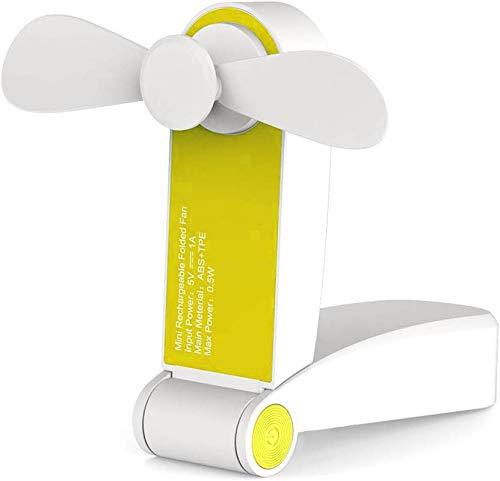 CITRA Travel Foldable Fan Hand Fan Personal Fan Mini Handheld Fan Battery Operated Rechargeable Portable Hiking Fan