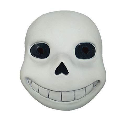 Sans Latex Mask Halloween Prom Party Costume Full Face Headgear Prop (Black)