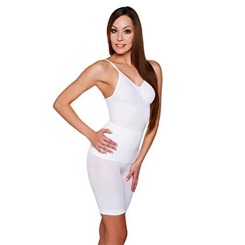 Skin Wrap Shapewear Damen - Unterhemd Bauchweg Hemd Body Shaper Damen Shaping Unterwäsche Damen Top - leicht & formend in Weiß Größe XXL
