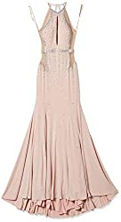Blush Fitted Jersey Prom Dress