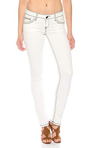 Cipo & Baxx Damen Jeans Hose mit dicken Kontrast Nähten (W25/L32)