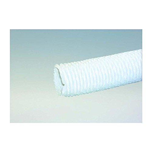 Dunstabzugsschlauch 1 m in Weiß für 150 mm Durchmesser leichte Ausführung PVC Stahldrahtspirale flexibel mit R&anschluss Abluft Lüftungsschlauch